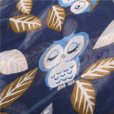 Owl Leaves Pattern Scarves
