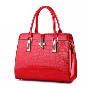 Crocodile Pattern Leather Handbag