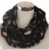 Feather Infinity Scarves 4501151-black-gold $ 11.99 $ 11.99 $ 12.99 Scarves Accessories Glimmer and Hair  Glimmer and Hair