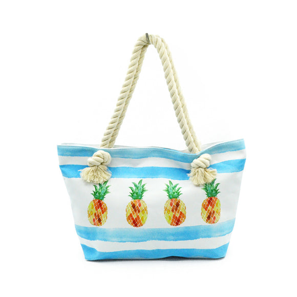 Pineapple Canvas Tote Handbag 8392609-Pineapple $ 25.99 $ 25.99 $ 25.99 Handbags Accessories Glimmer and Hair  Glimmer and Hair