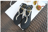 Pearl Diamond Flat Sandals 435527-black-4 $ 34.99 $ 34.99 $ 34.99 Sandals Shoes Glimmer and Hair  Glimmer and Hair