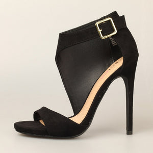 Ankle Strap Open Toes High Heel Shoes