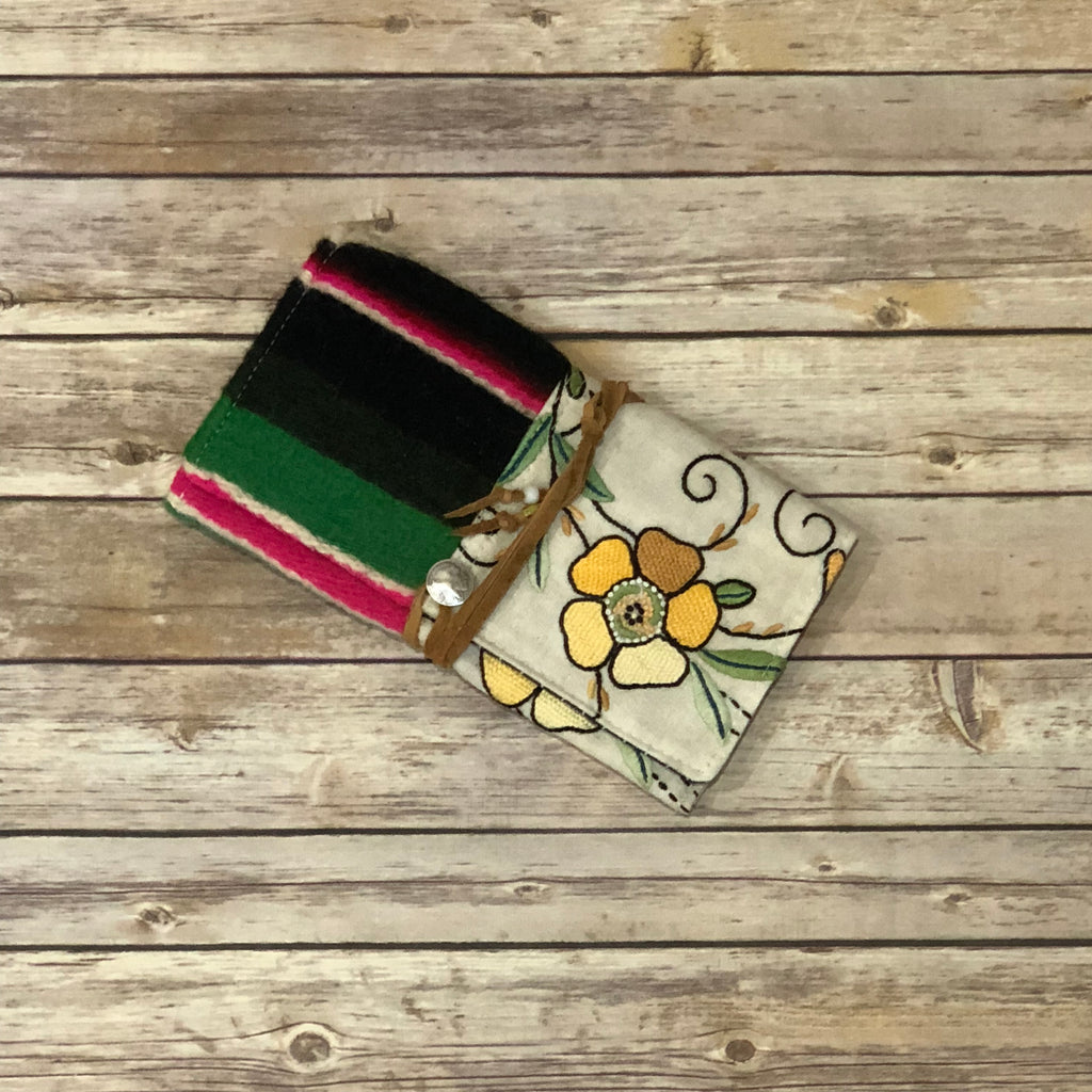 TOTeM Vintage Embroidered Wallet - Pansy