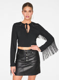 Black Western Crop Top