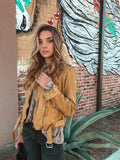 Wild Sunrise Leather Jacket