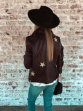 Cathleen Scattered Star Leather Jacket
