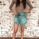 Lola High Rise Denim Skirt