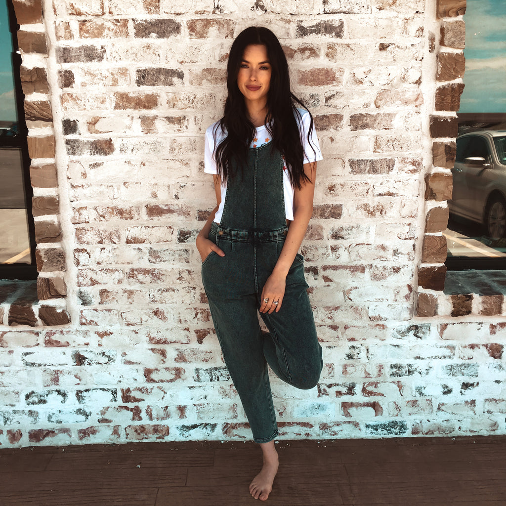 The Knit Denim Overall