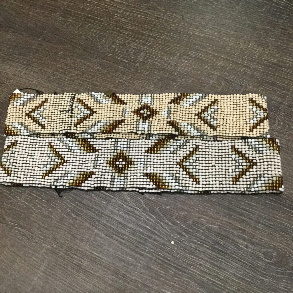 Cocobelle Native Print Beaded Belt