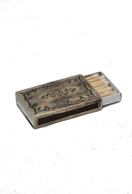 Stamped Silver Match Box Cover