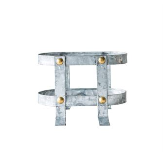 Galvanized Metal Bottle Holder