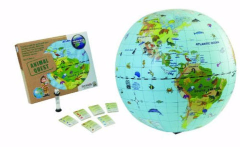 Animal Quest Inflatable Species Globe & Game