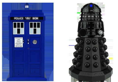 Doctor Who TARDIS and Dalek Sec Bluetooth Speaker Bundle