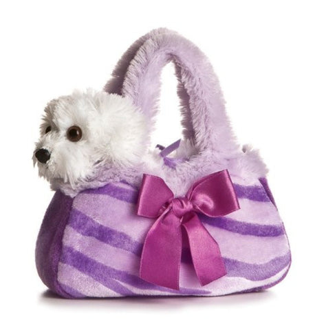 Aurora World Purple Pretty Pup FancyPal Purse