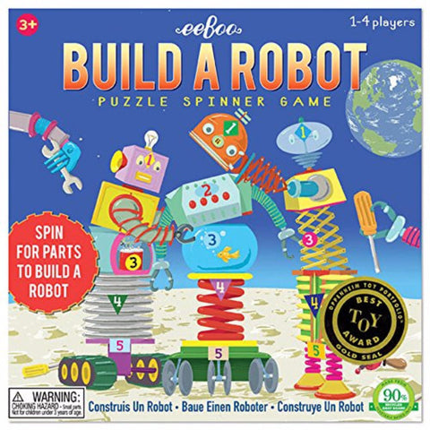 Eeboo Build a Robot: Puzzle Spinner Game