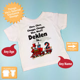 Birthday Boy Shirt - Birthday Train Shirt, Personalized Boys Birthday Shirt with Child's Name and age 01052016f
