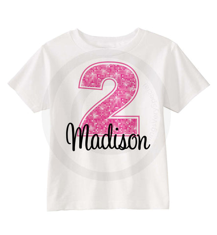 2 Year Old girl Birthday shirt