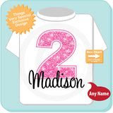 Pink Number Girl's Birthday Shirt 0106214c