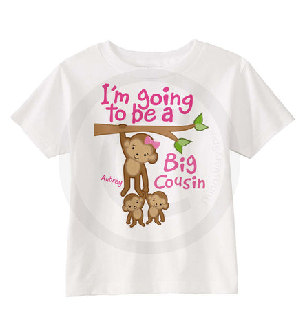 Big Cousin of twins Monkey Shirt | 01172014b | ThingsVerySpecial