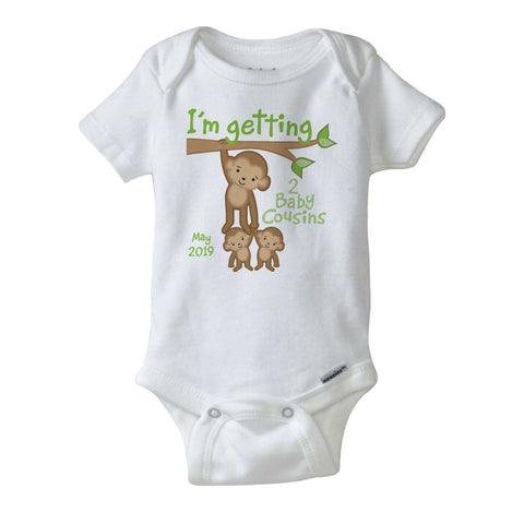 I'm getting two Baby cousins Onesie Bodysuit with Due date 01212016b