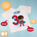 Superhero Birthday shirt for Boy's Third birthday 01272016f