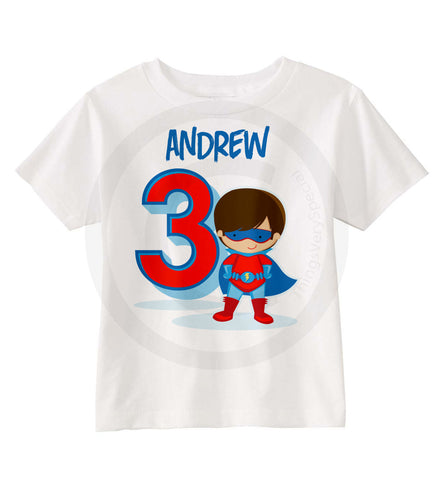 Superhero Birthday shirt for Boys
