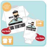 Big Brother Little Brother Hockey Players, Personalized set of 2 01282016c