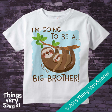 Sloth Big Brother short sleeve youth tee shirt