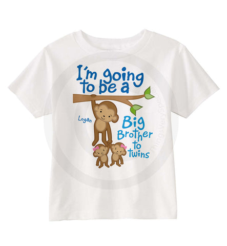 I'm going to be a Big Brother To Twin Girls Shirt