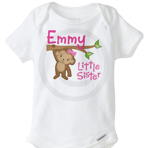 Little Sister Monkey Onesie