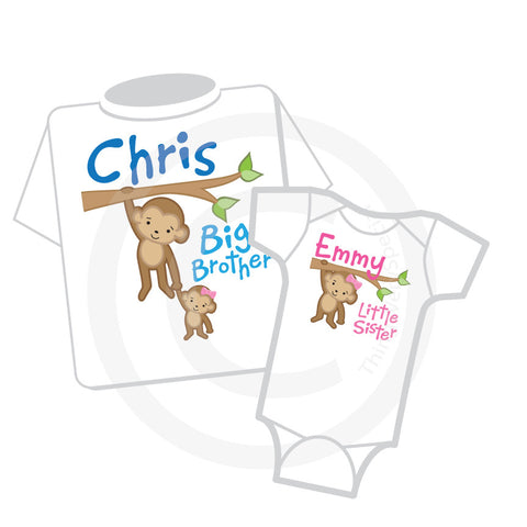 Matching Big Brother Little Sister shirt and Onesie Set
