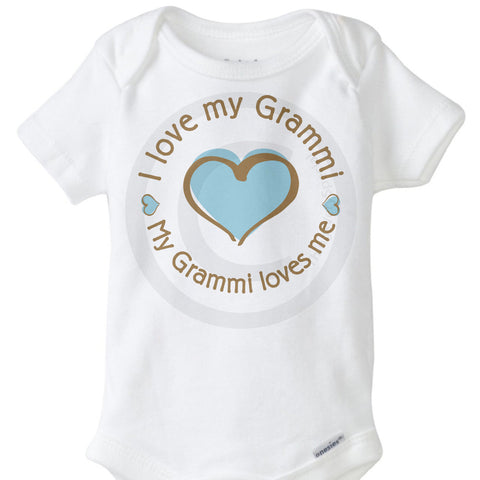 I love my Grammi My Grammi Loves Me Onesie Bodysuit