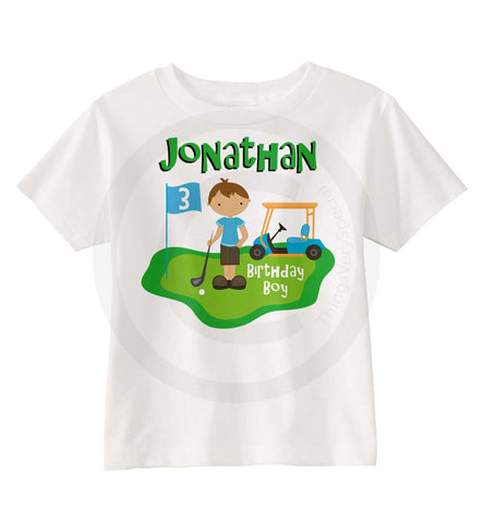 3 Year Old Boys Golf Birthday Shirt 02022014b For