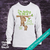 Monkey Big Cousin shirt with due date in short or long sleeve