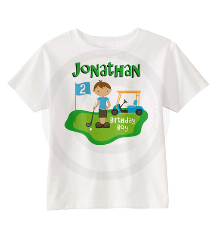 Golf Theme Birthday Shirt for Boys | 02062014d | ThingsVerySpecial