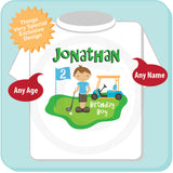 Golf Theme Birthday Shirt for boys 02062014d