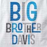 Personalized Big Brother Shirt with Blue an Grey lettering 02102014d