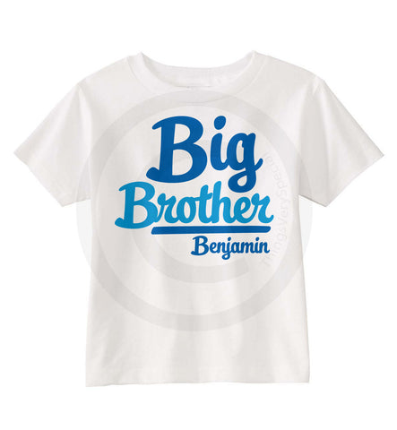 Big Brother Shirt with Baseball type Script.