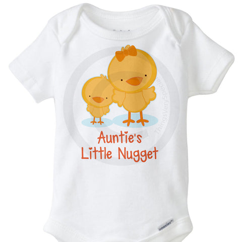 Auntie's Little Nugget Onesie Bodysuit - New Baby Gift