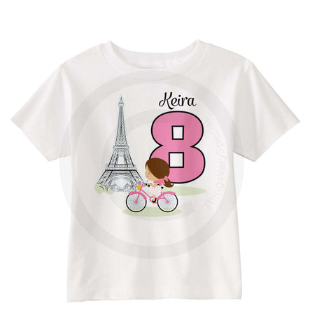 Paris Theme Birthday shirt for girls