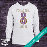 Donut 8th Birthday Shirt, Personalized Eighth Birthday Doughnut Shirt, It's Great to be 8 Shirt 02202019a