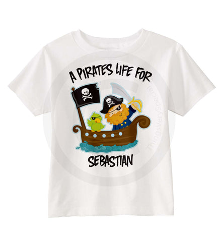 A pirate's life shirt for boys