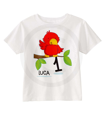 Parrot Birthday shirt for boys or girls