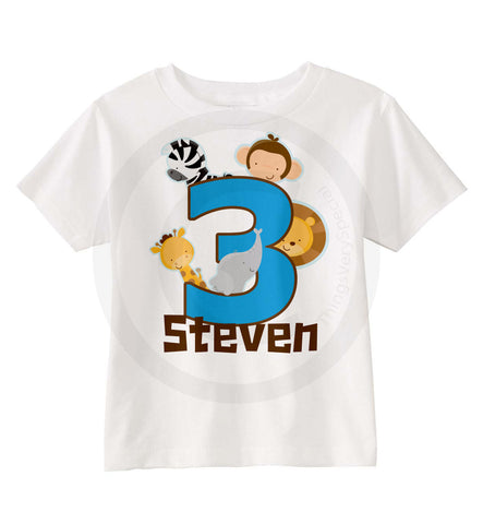 Monkey Birthday Shirt 3 for Boys 03062013 ThingsVerySpecial