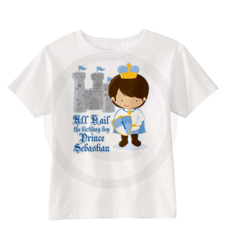 Prince Theme Boy's Birthday Shirt