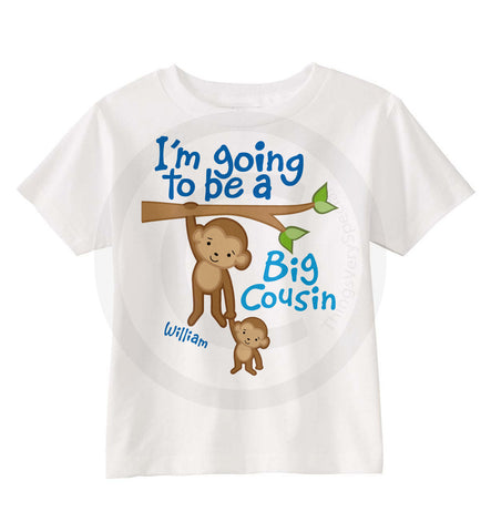 Big Cousin Shirt with Monkeys