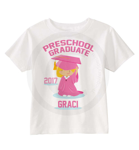 Girl's Preschool Graduation Shirt