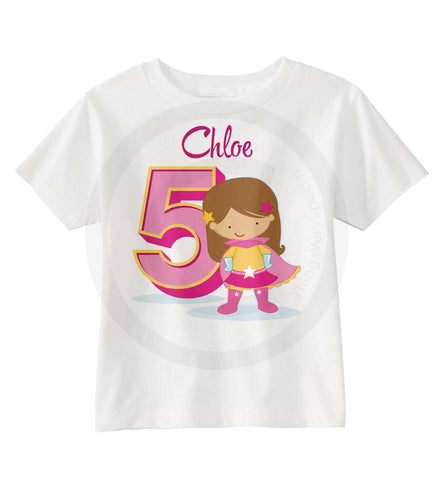 Girl's Superhero Birthday Shirt | 03162016i | ThingsVerySpecial