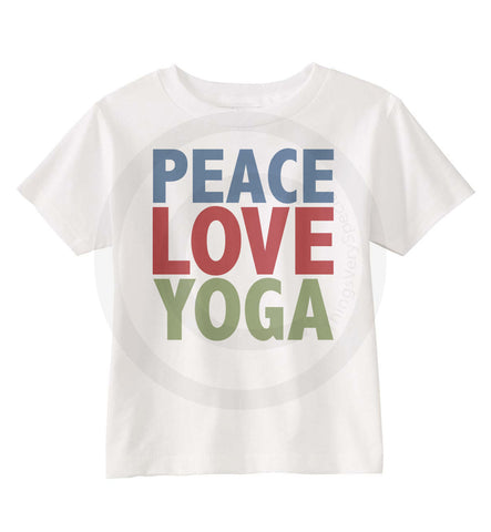 Peace Love Yoga shirt for Kids