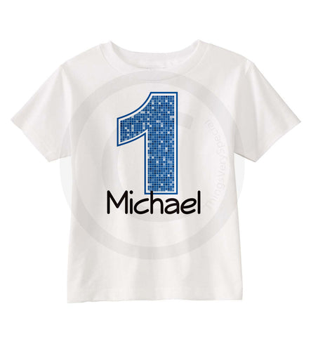 Boy's First Birthday Shirt with name and Age